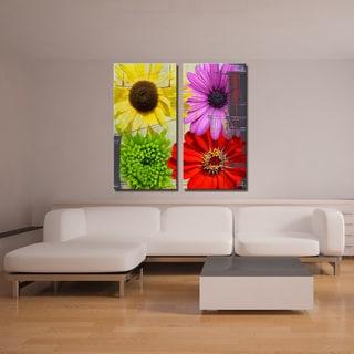 Ready2HangArt 2 Piece 'Painted Petals XXXVIII' Canvas Art Set