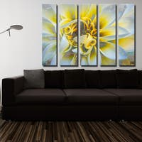 Ready2HangArt 5-Piece 'Painted Petals XXXVII' Canvas Art Set