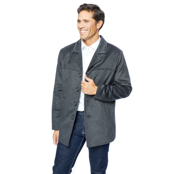 0ac89eec13d Shop Lee Cobb Men s Grey Wool Blend Car Coat - Free Shipping Today ...