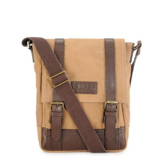 Handmade Phive Rivers Leather Messenger Bag (Khaki)