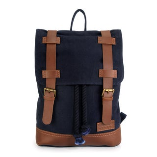 Handmade Phive Rivers Leather Backpack (Blue)