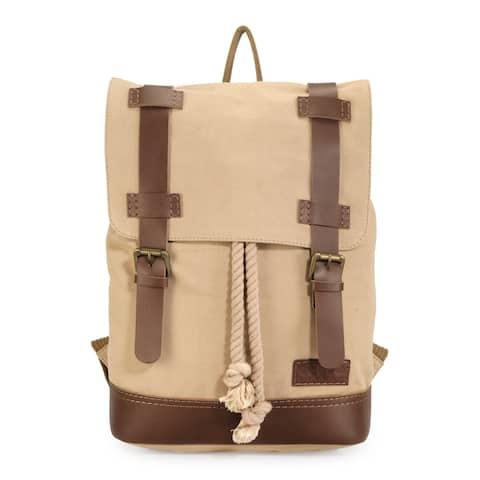 Handmade Phive Rivers Leather Backpack (Khaki)