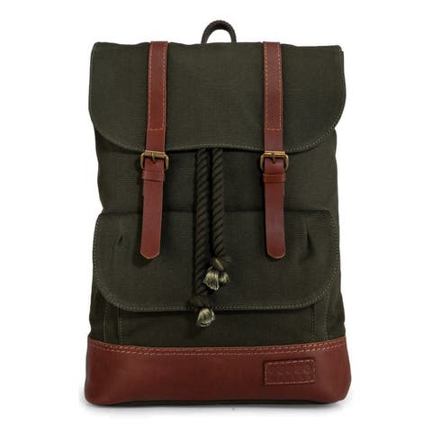 Handmade Phive Rivers Leather Backpack (Green)