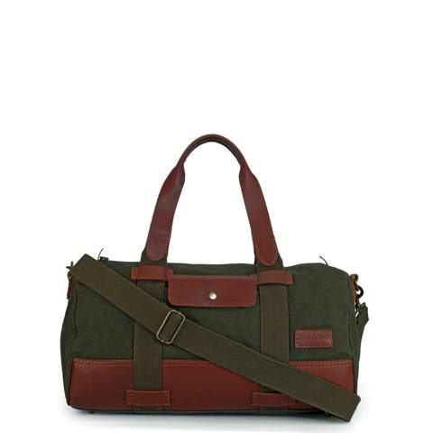Handmade Phive Rivers Leather Duffle Bag/ Weekender Bag (Green) (Italy)