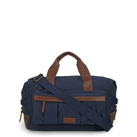 Handmade Phive Rivers Leather Duffle Bag/ Weekender Bag (Blue) (Italy)