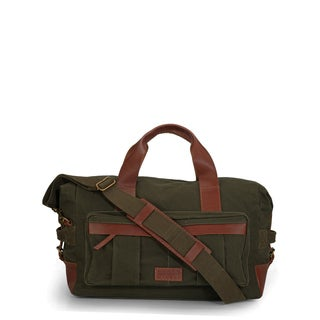 Handmade Phive Rivers Leather Duffle Bag/ Weekender Bag (Green)