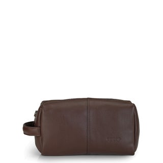 Phive Rivers Leather Wash Bag/Toilet Kit (Brown)