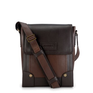 Handmade Phive Rivers Leather Messenger Bag (Brown) (Italy)