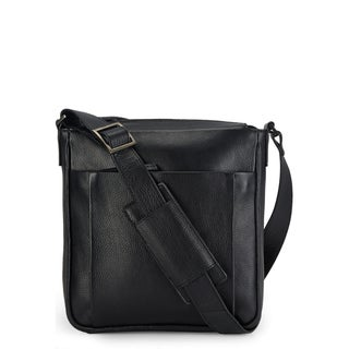 Handmade Phive Rivers Leather Messenger Bag (Black) (Italy)