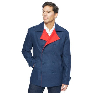 Lee Cobb Men's Wool Blend Pea Coat