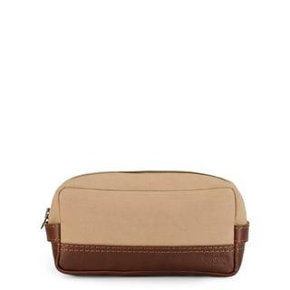 Handmade Phive Rivers Leather Wash Bag/Toilet Kit (Khaki)