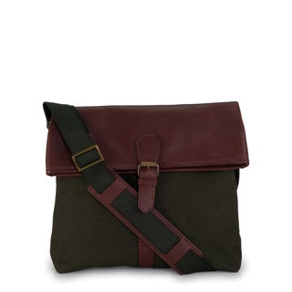 Handmade Phive Rivers Leather Messenger Bag (Green)