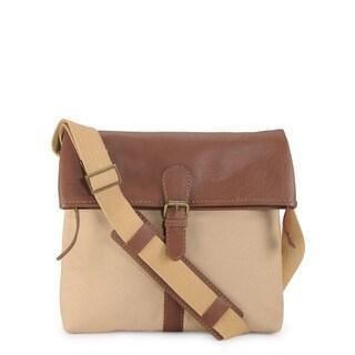Phive Rivers Leather Messenger Bag (Khaki)