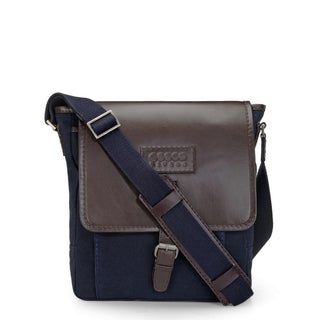Handmade Phive Rivers Leather Messenger Bag (Blue)