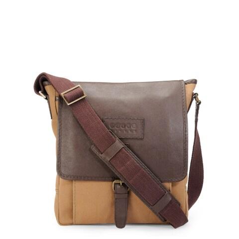 Handmade Phive Rivers Leather Messenger Bag (Khaki)