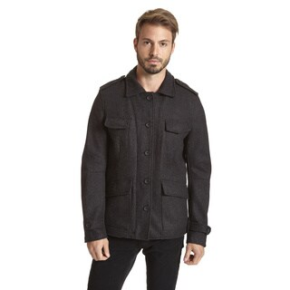 Excelled Men's Wool Blend Multi Pocket Front Jacket