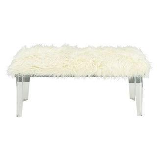 Amazing Acrylic White Fur Bench