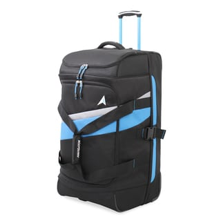 Navigator Blue and Black Polyester 30-inch Rolling Duffel Bag