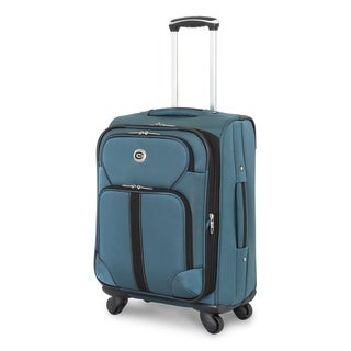 Global Traveler Polyester 19-inch Carry-on Spinner Suitcase