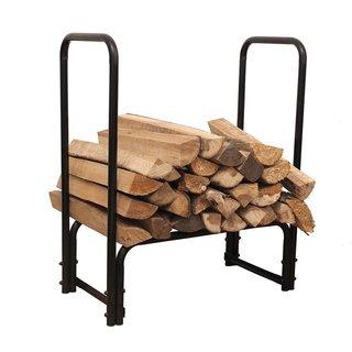 HIO Steel Firewood Rack 28 Inch Small Indoor/Outdoor Fireplace Log Holder