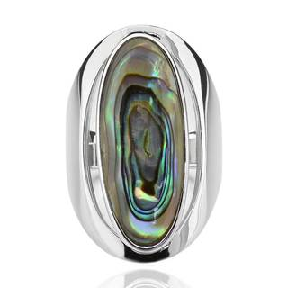 Sterling Silver Oval Abalone Shell Elongated Solitaire Ring (China)|https://ak1.ostkcdn.com/images/products/13009693/P19753066.jpg?impolicy=medium