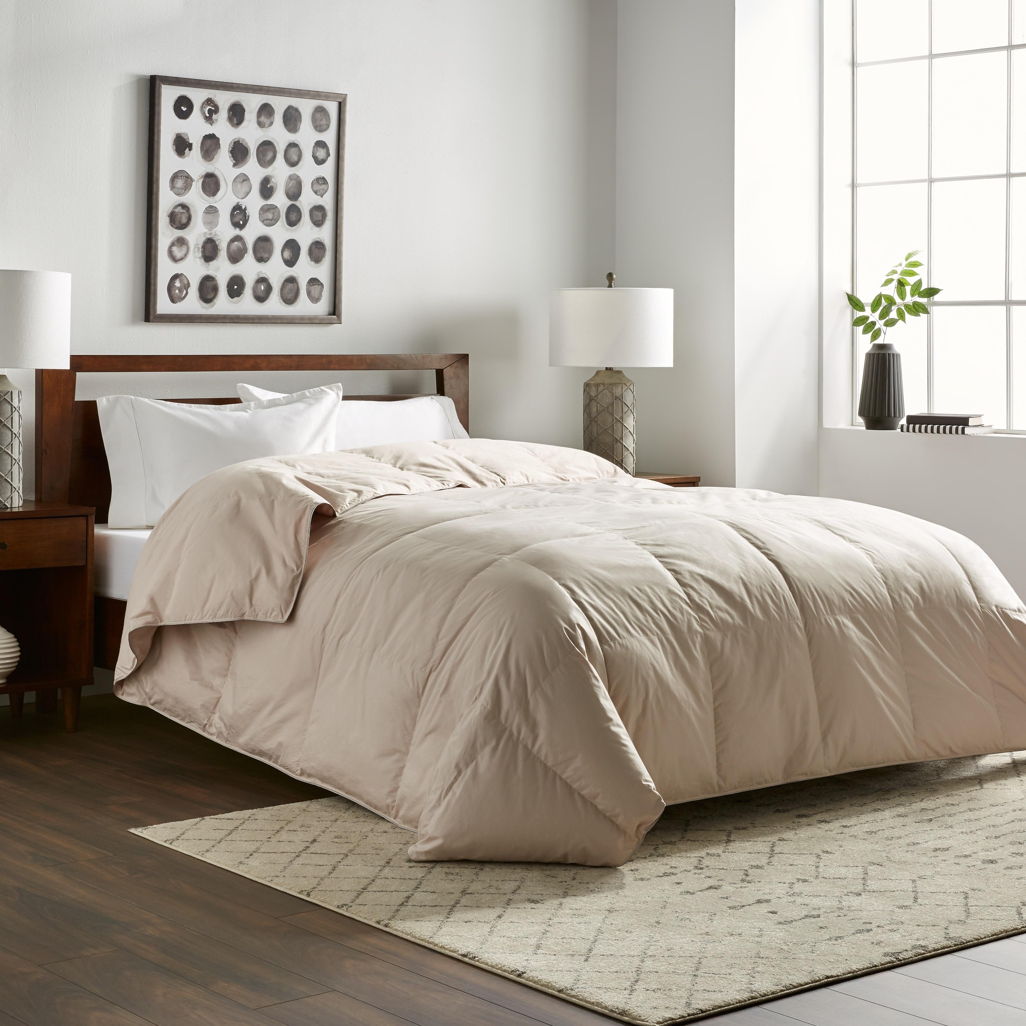 Nikki Chu Soft Clay White Down Comforter Overstock 13009713 Twin
