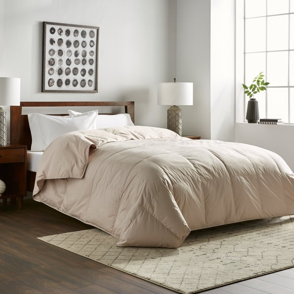 Nikkichu: Shop Nikki Chu Soft Clay White Down Comforter