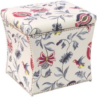 Skyline Furniture Storage Ottoman in Jacobean Bright Multi