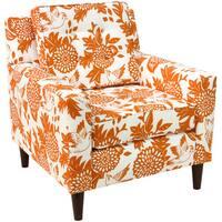 Skyline Furniture Arm Chair in Garden Bird Orange