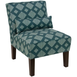 Skyline Furniture Chair in Line Lattice Teal