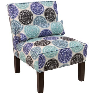 Skyline Furniture Chair in Pen Medallion Blue