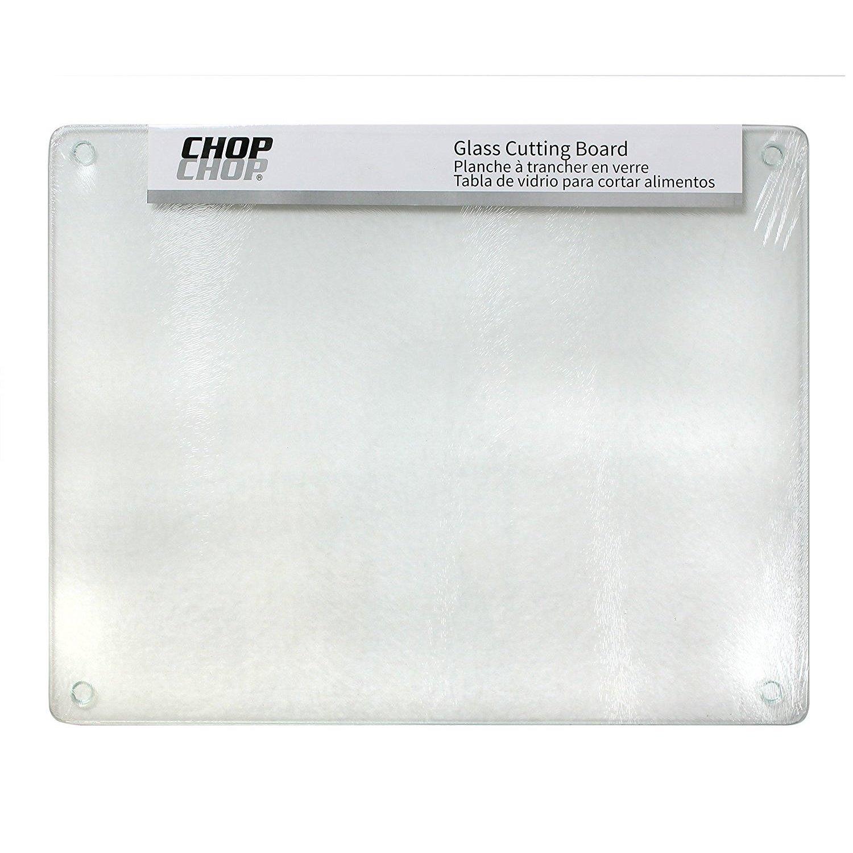 "Chop-Chop Glass Cutting Board / Counter Saver 12""x15"" (Cl..."