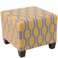 Skyline Furniture Ottoman in Hexagon Yellow