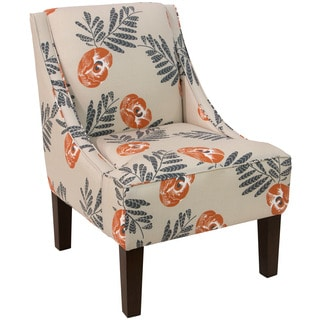 Skyline Furniture Swoop Arm Chair in Mod Floral Orange