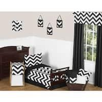Sweet Jojo Designs 5-piece Black and White Chevron Toddler-size Bed in a Bag with Sheet Set