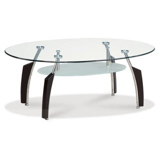 GLOBAL FURNITURE GLASS TOP TABLE