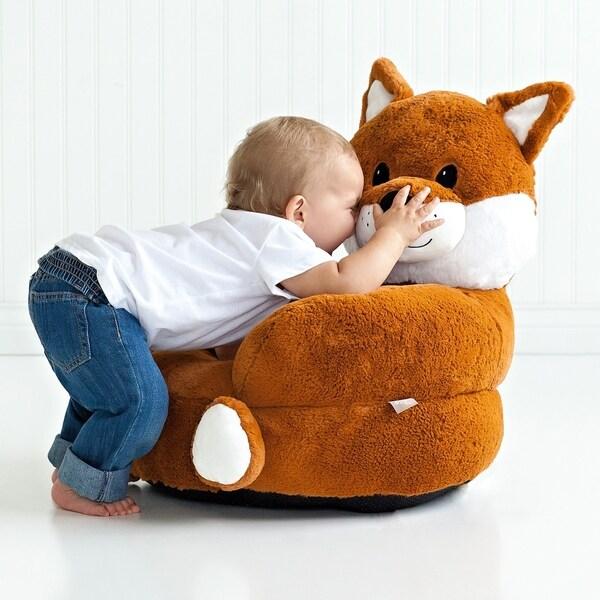 Trend Lab Childrenu0026#x27;s Plush Fox Character Chair