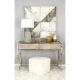 Contemporary 17 x 17 Inch White Faux Fur Cube Ottoman by Studio 350