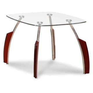 GLOBAL FURNITURE GLASS TOP END TABLE