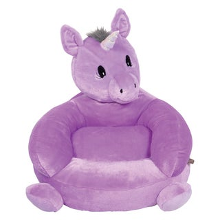 Trend Lab Children's Purple Microplush Unicorn Character Chair