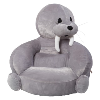Trend Lab Children's Grey Plush Walrus Character Chair