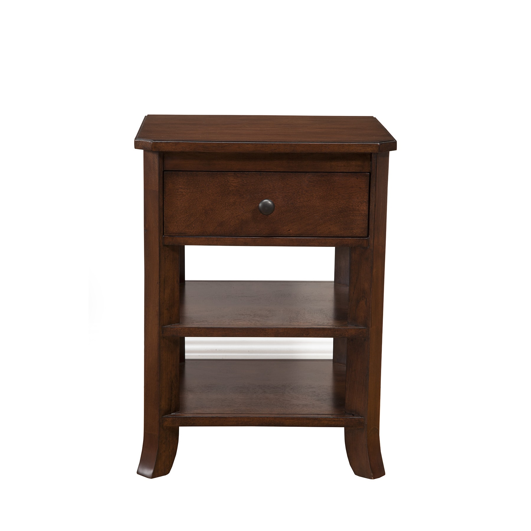Alpine Furniture Alpine Baker Nightstand with Drawer and ...