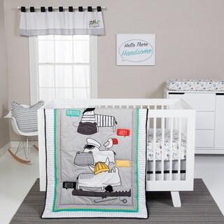 Trend Lab 'Hello' Animals Grey 4-piece Crib Bedding Set