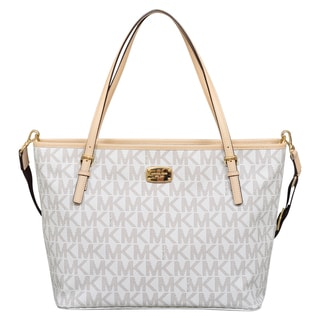 Michael Kors Jet Set Signature Vanilla Diaper Tote Bag