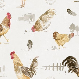 Mangatten Comfort Sarasota Hen and Rooster Wallpaper (32.7 x 20.5) (2 options available)