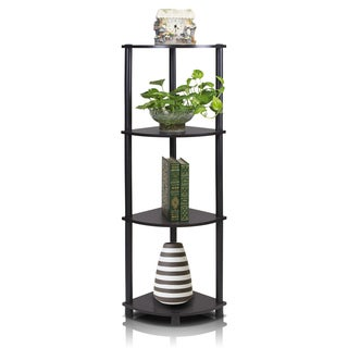 Furinno Turn-N-Tube 4-Tier Corner Multipurpose Shelving Unit