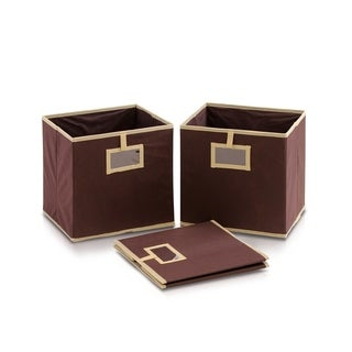 Link to Furinno Laci Brown Fabric Foldable Storage Organizer with Card Display Pocket (Pack of 3) Similar Items in Storage & Organization