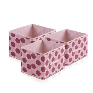 Furinno Laci Dot Design Multicolor Nonwoven Fabric Soft Storage Organizer