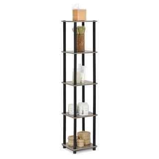 Furinno Turn-N-Tube 5-Tier Corner Square Display Shelf