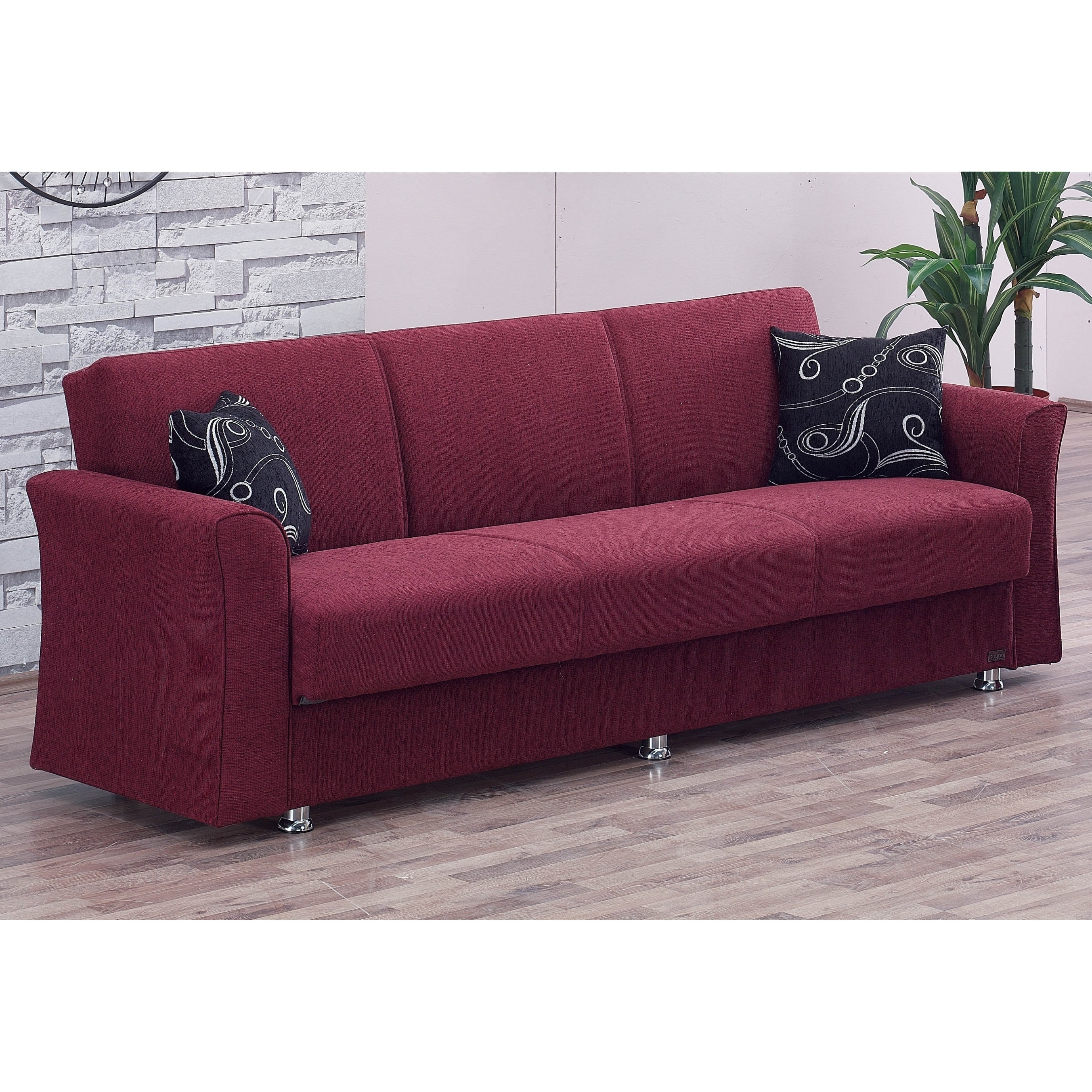 Ohio Convertible Sofa Bed, Red